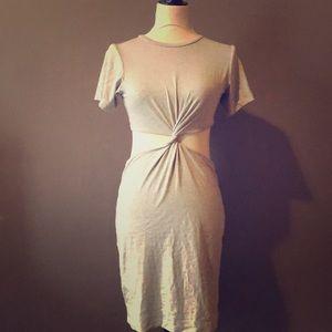 T Shirt style mid wrap dress